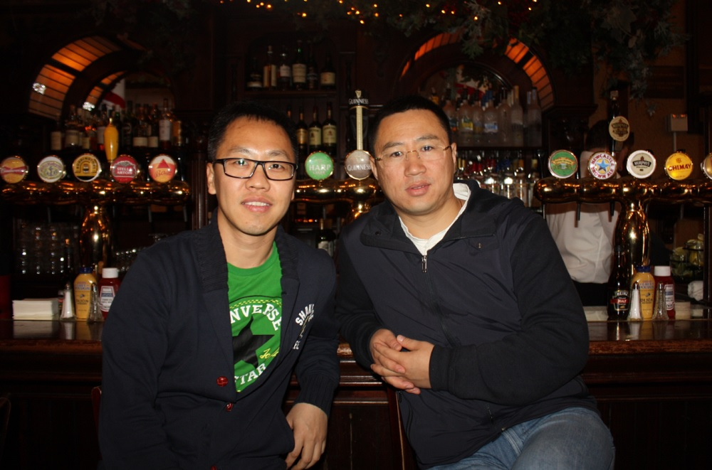 Gio Zhang, VP of Publishing, and Michael Song, CEO, SkyMobi .