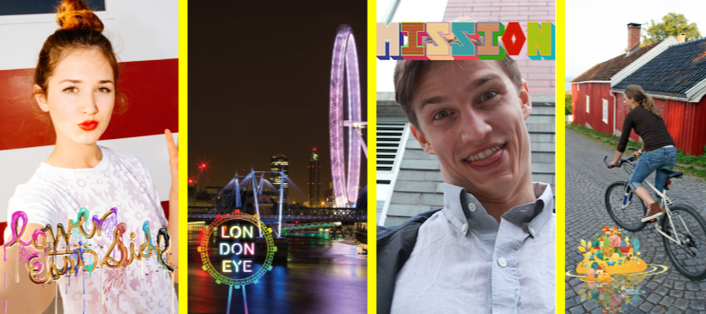 A preview of Snapchat's new user-submitted Geofilters