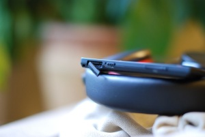 The micro-SD card slot's cover is flimsy and doesn't sit flush to the body when closed. Photo by Simon Cohen.