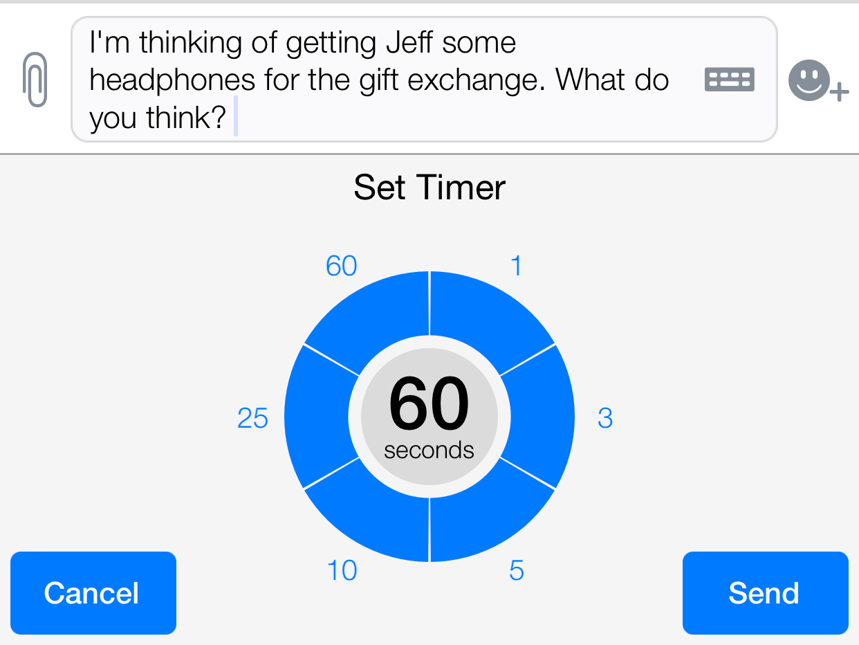 Timed messages can be viewed multiple times within the time limit.