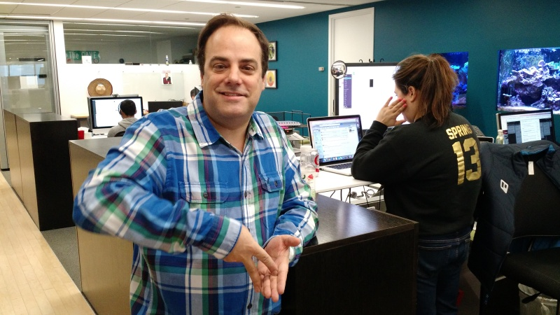 Fog Creek Software cofounder Joel Spolsky at the company's office in New York.