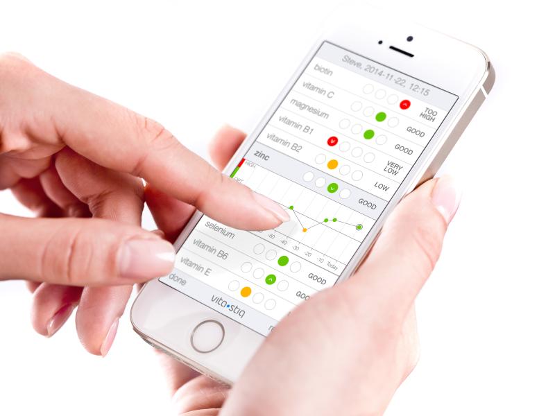 Vitastiq app tells you where you have vitamin deficits.