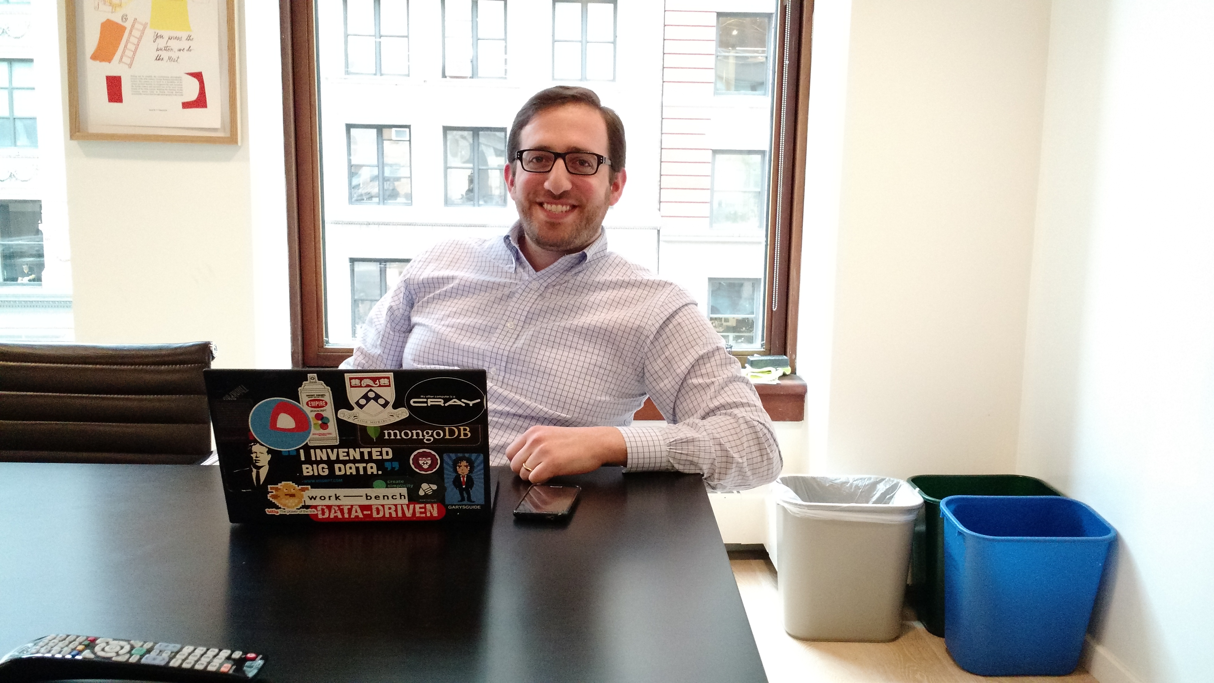 Jon Lehr, a cofounder of Work-Bench and its venture director, at Work-Bench in New York on Dec. 11.