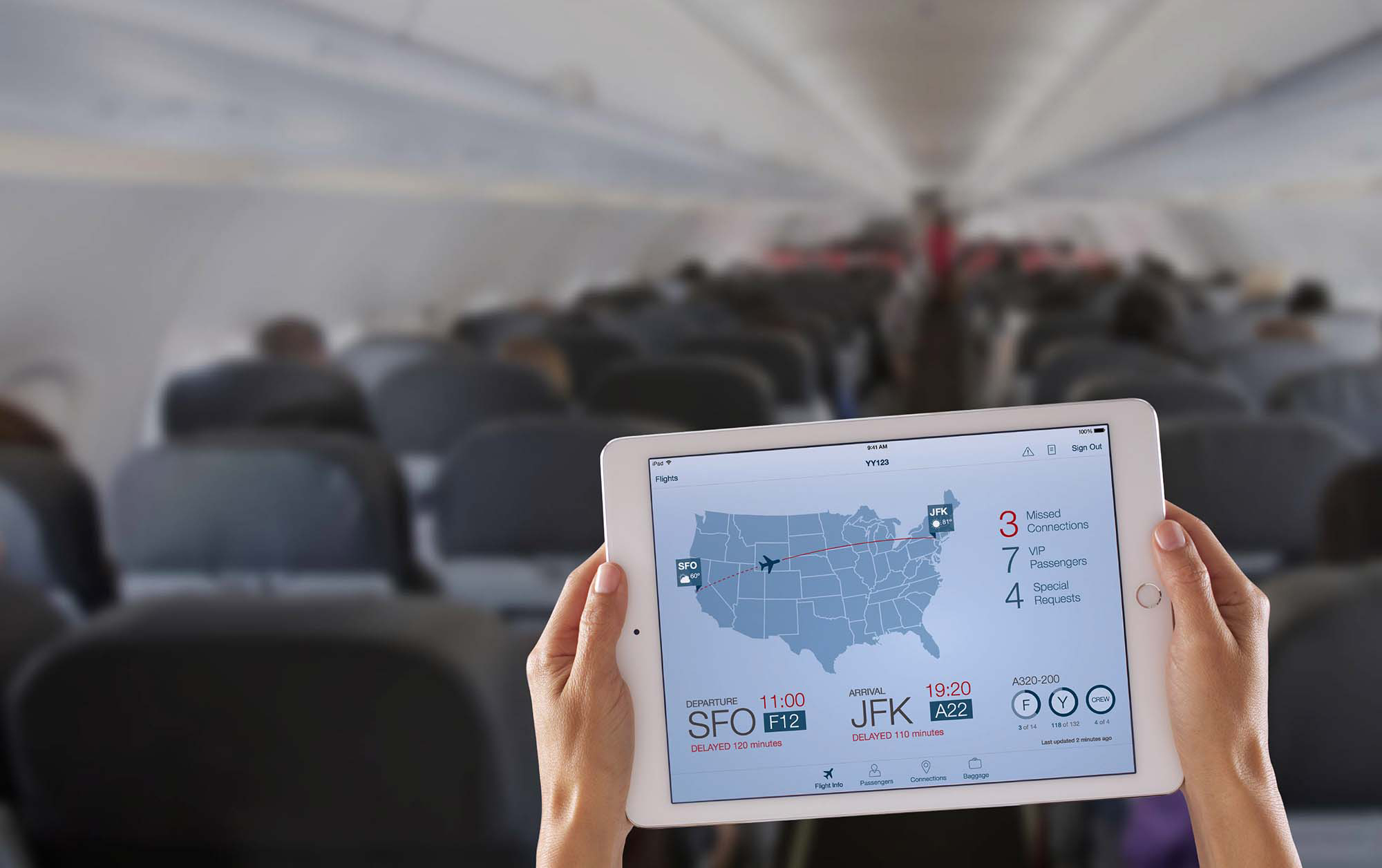 One of the apps developed by Apple and IBM in December, aimed at the airline industry.