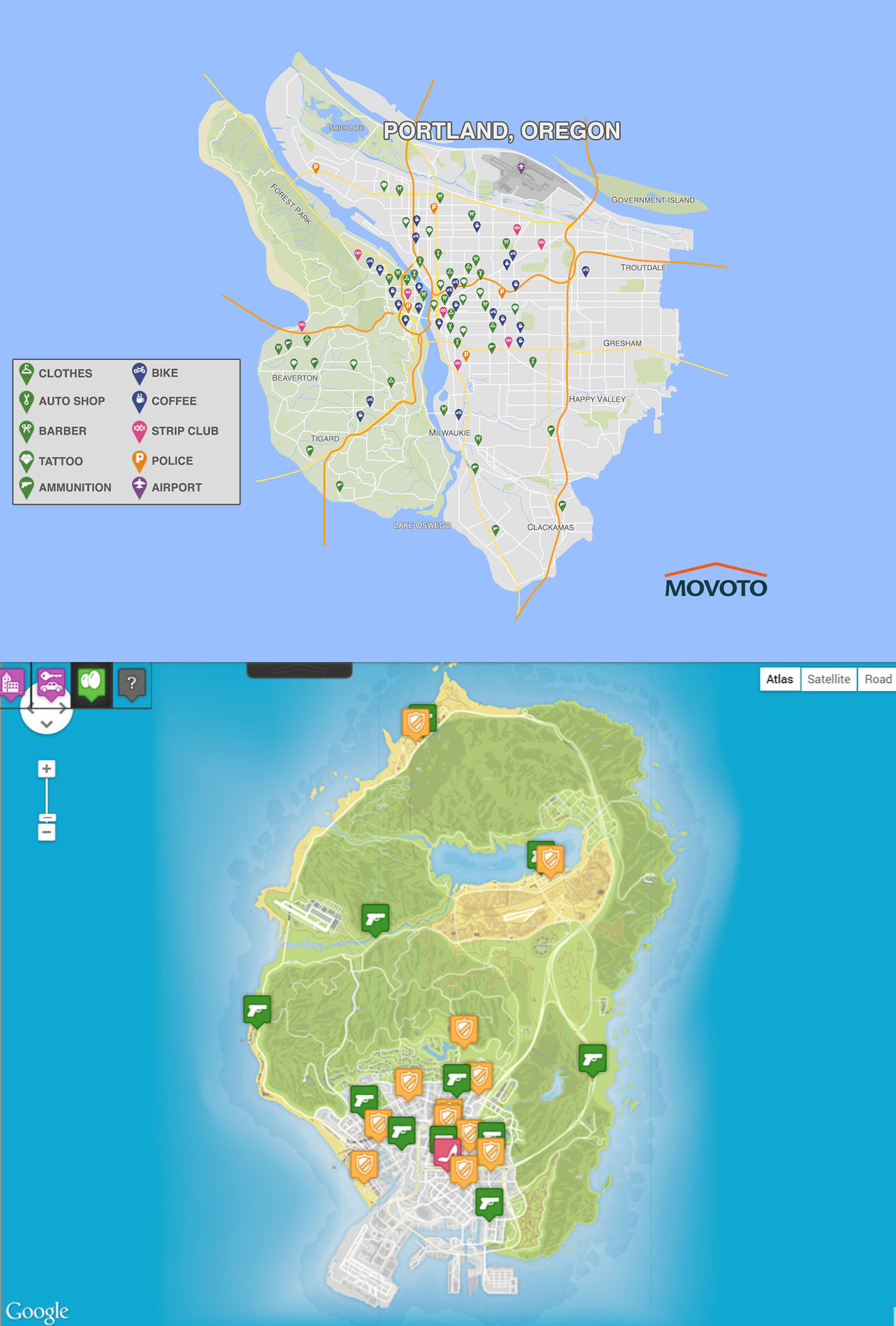 Gta 6 World Map.Grand Theft Auto Vi Should Be In Portland Argues These Real Estate
