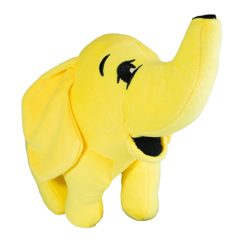 A stuffed toy version of the Hadoop symbol, a yellow elephant.