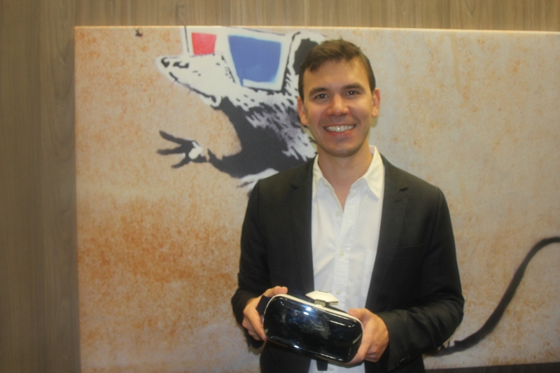 Nate Mitchell, cofounder of Occulus, at CES 2015