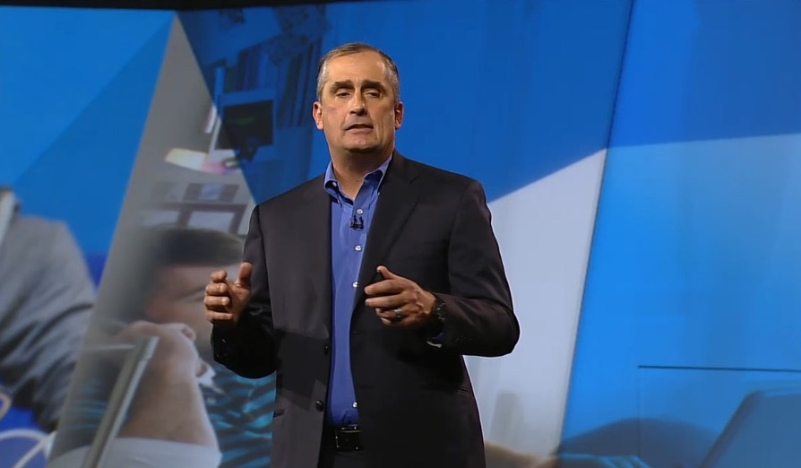 Brian Krzanich of Intel during keynote at CES 2015.