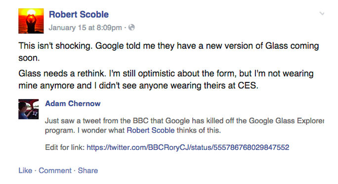 Scoble Google Glass rethink