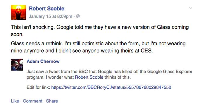 Scoble Google Glass rethink