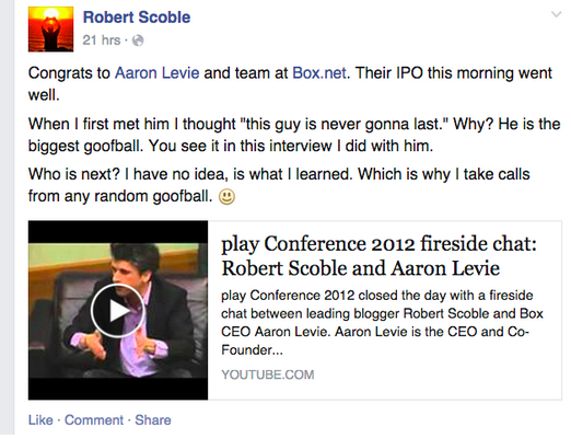 Scoble-Levie update