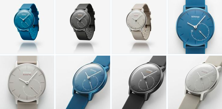The Withings Activite Pop in  Azure, Shark Grey, and Sand colors.