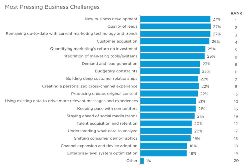 2015: Top marketing challenges