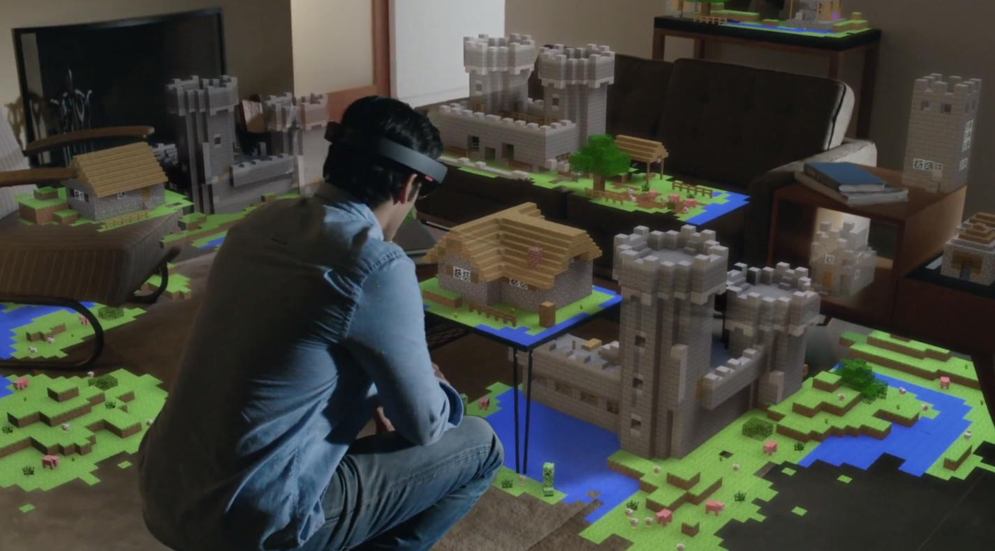 Microsoft's HoloLens, in action.