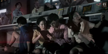 Escape from a zombie-infested TV studio in this live Resident Evil adventure