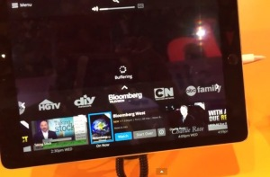 We tested Dish's new Sling TV service at CES.