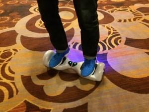 Smart Wheels skateboard in action.