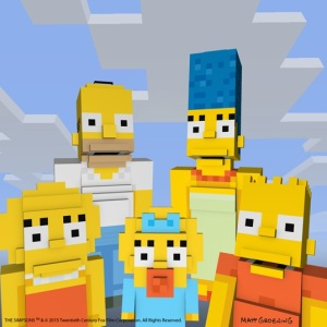 Homer and the family for Minecraft.