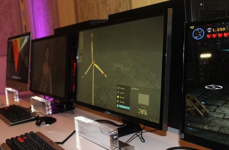 AMD-powered gamer computers at CES.