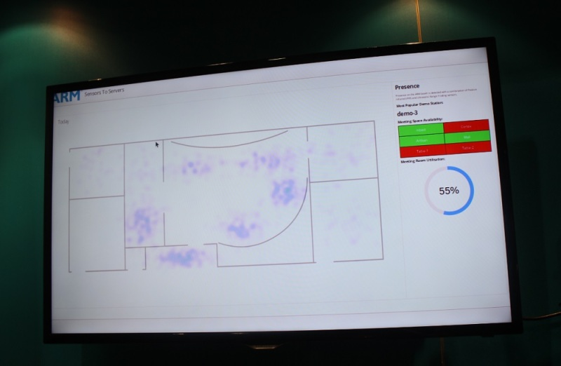ARM mapped its CES booth visitors in real-time.