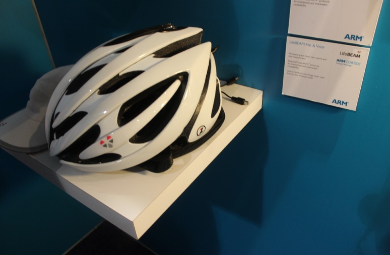 ARM-powered helmet for bikers.