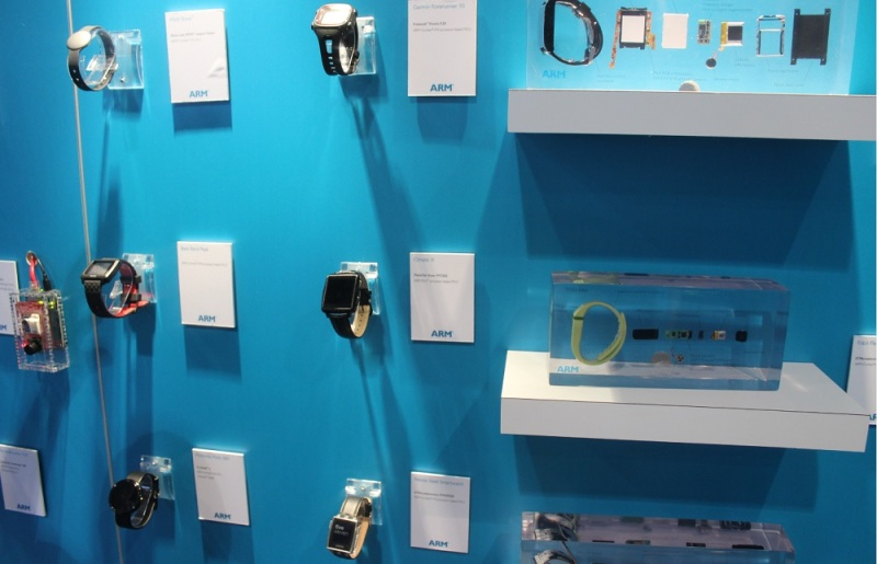 ARM-powered wearables at CES 2015.
