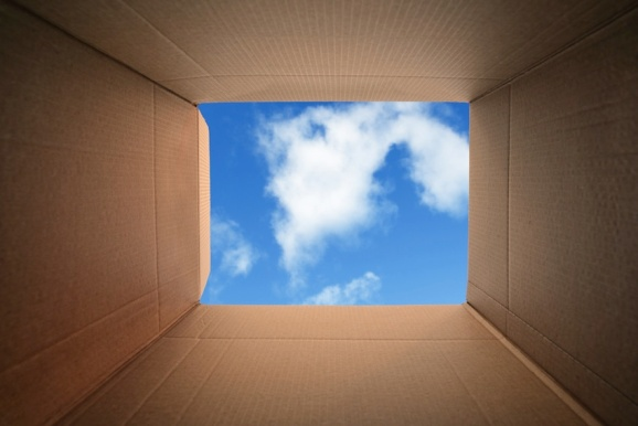 box and cloud