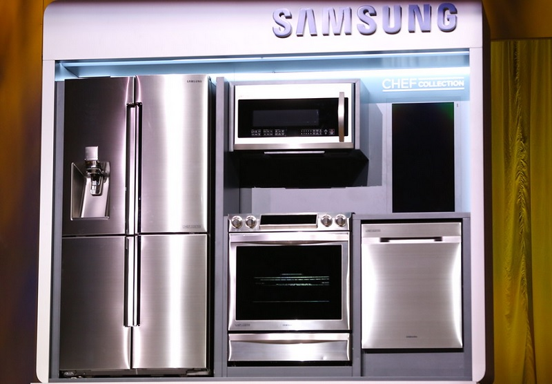 Samsung's Chef Collection appliances at CES 2015.