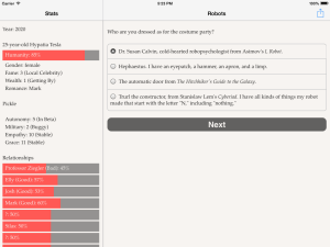 Choice of Robots iPad