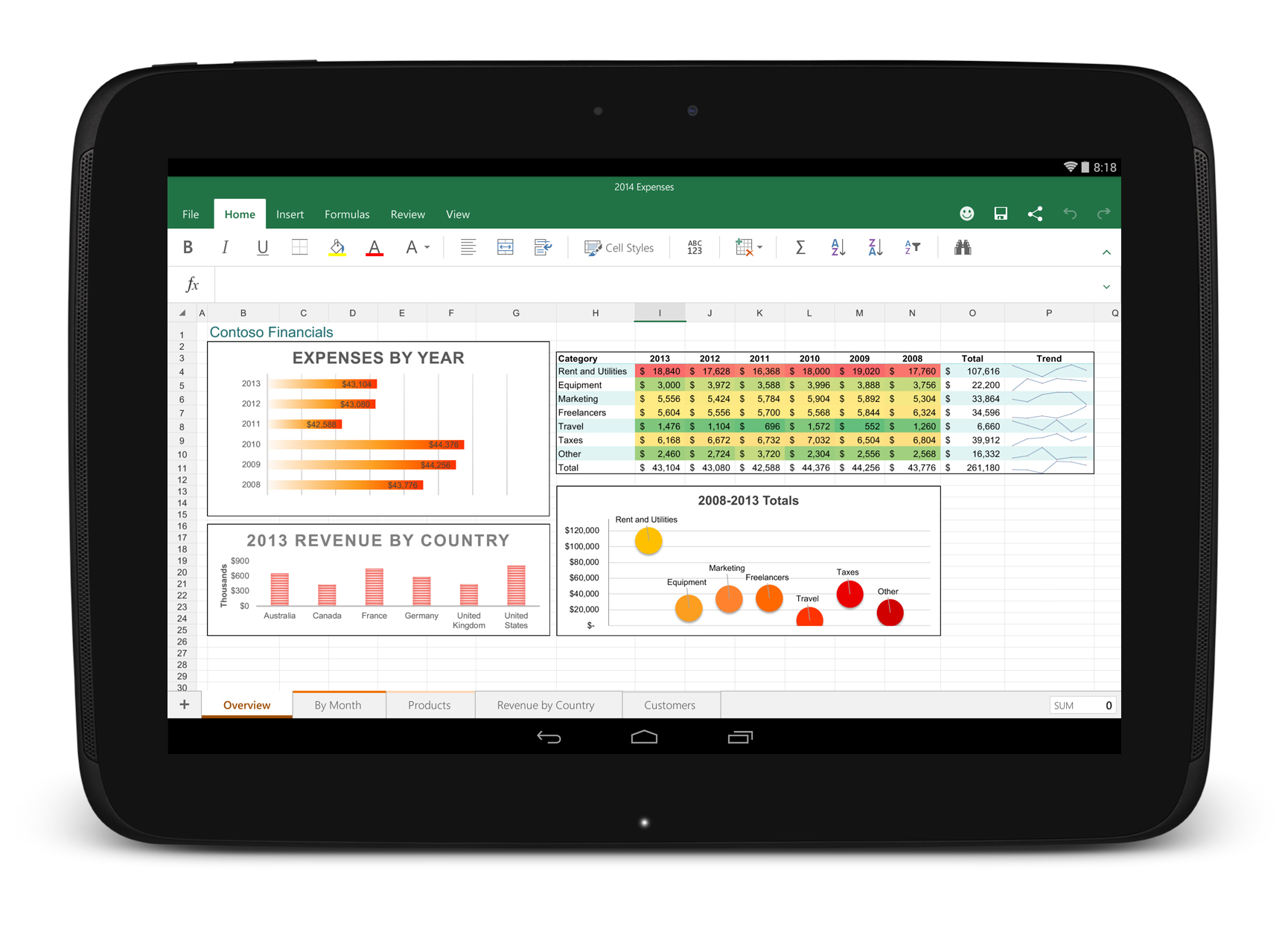 Android tablet office apps free download