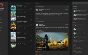 Xbox App Windows 10 home screen