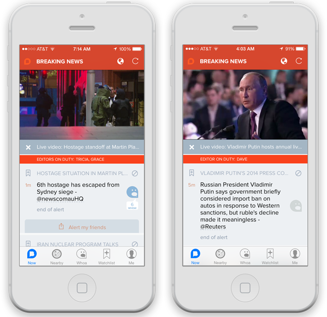 NBC's Breaking News app hopes to hook you with live video
