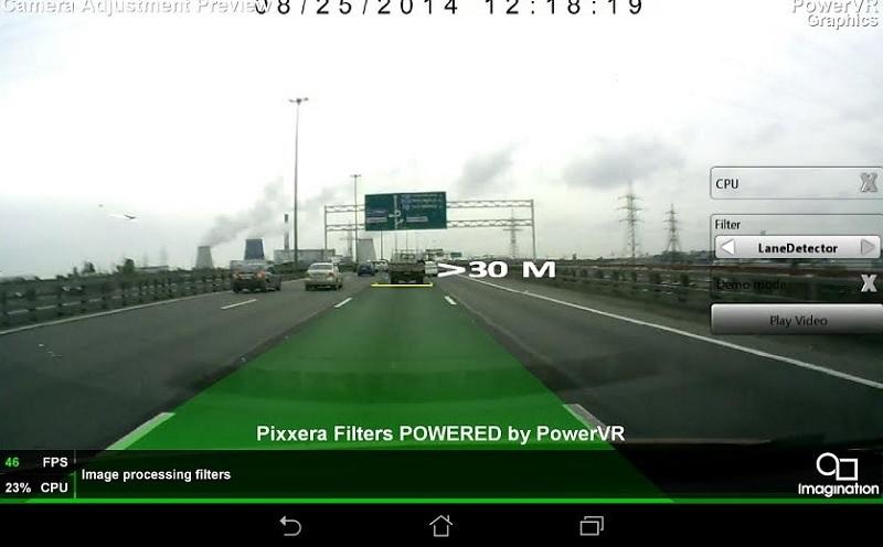 Lane detection demo