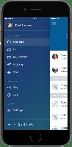 Coinbase app redesign