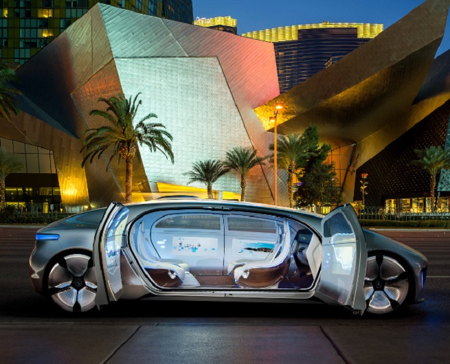 Mercedes-Behz F 015 self-driving car.