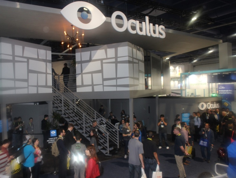 Oculus VR booth at CES 2015.