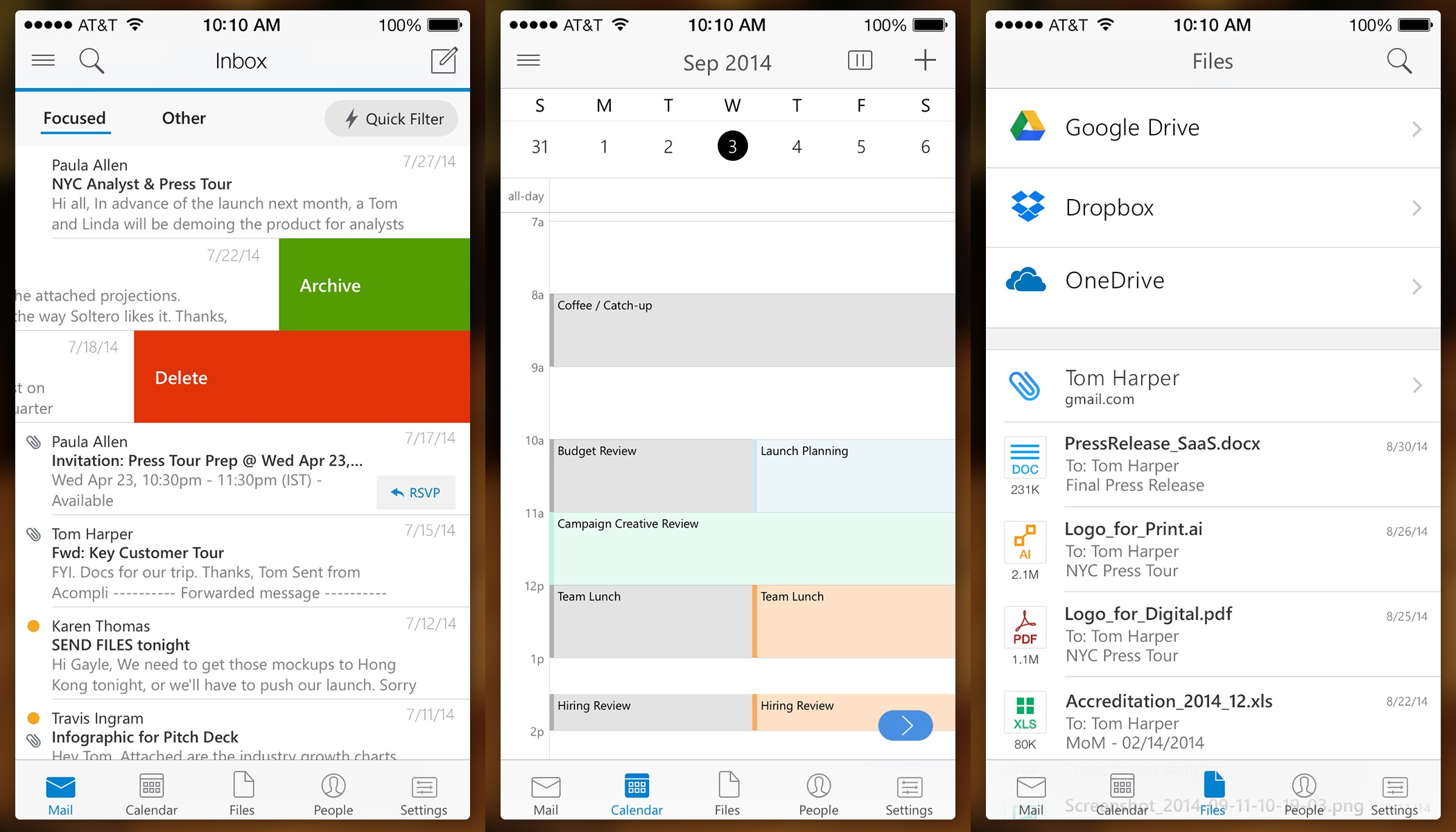 Outlook for iPhone
