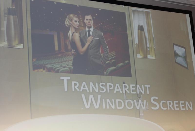 Panasonic Transparent Windows Sign