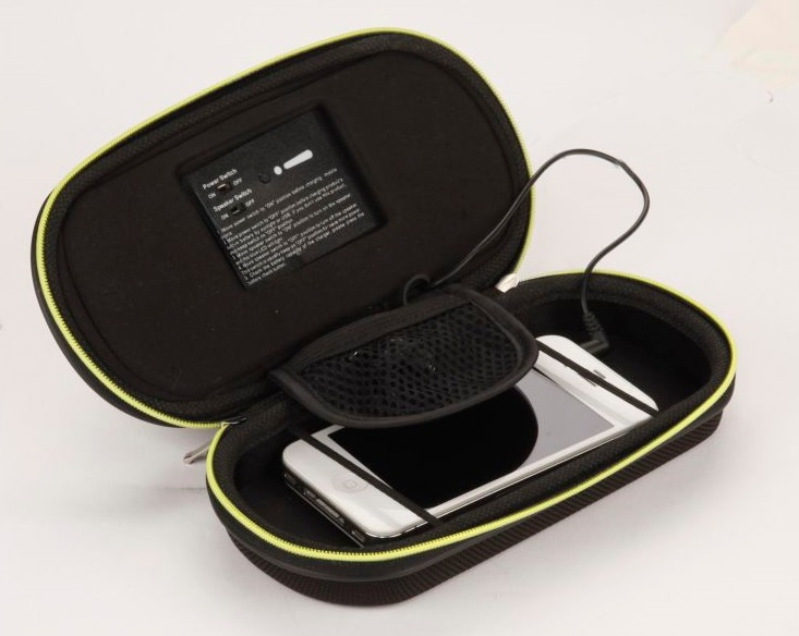 Secur Products' Solar Media Player and charging case.