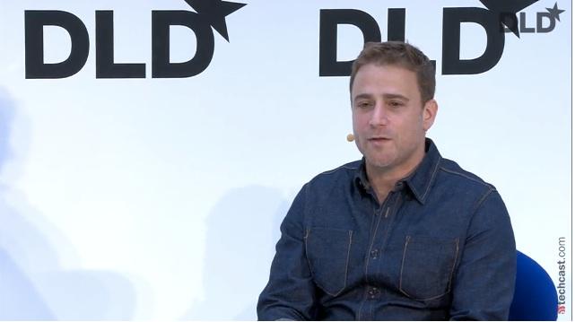 Slack co-founder Stewart Butterfield speaking at DLD 15 in Munich, Germany.