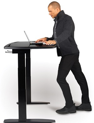 This Smart Desk Moves Up And Down And Gets You Into