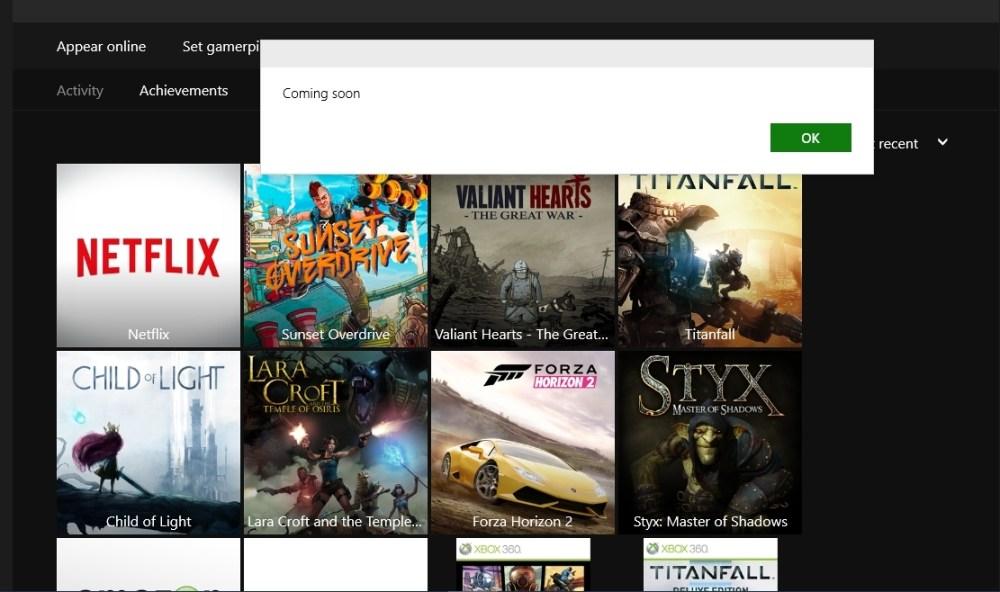 Windows 10 Xbox App