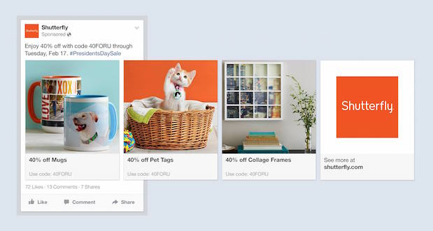 Facebook's new Product ads are meant to let marketers showcase their products in any way they want.