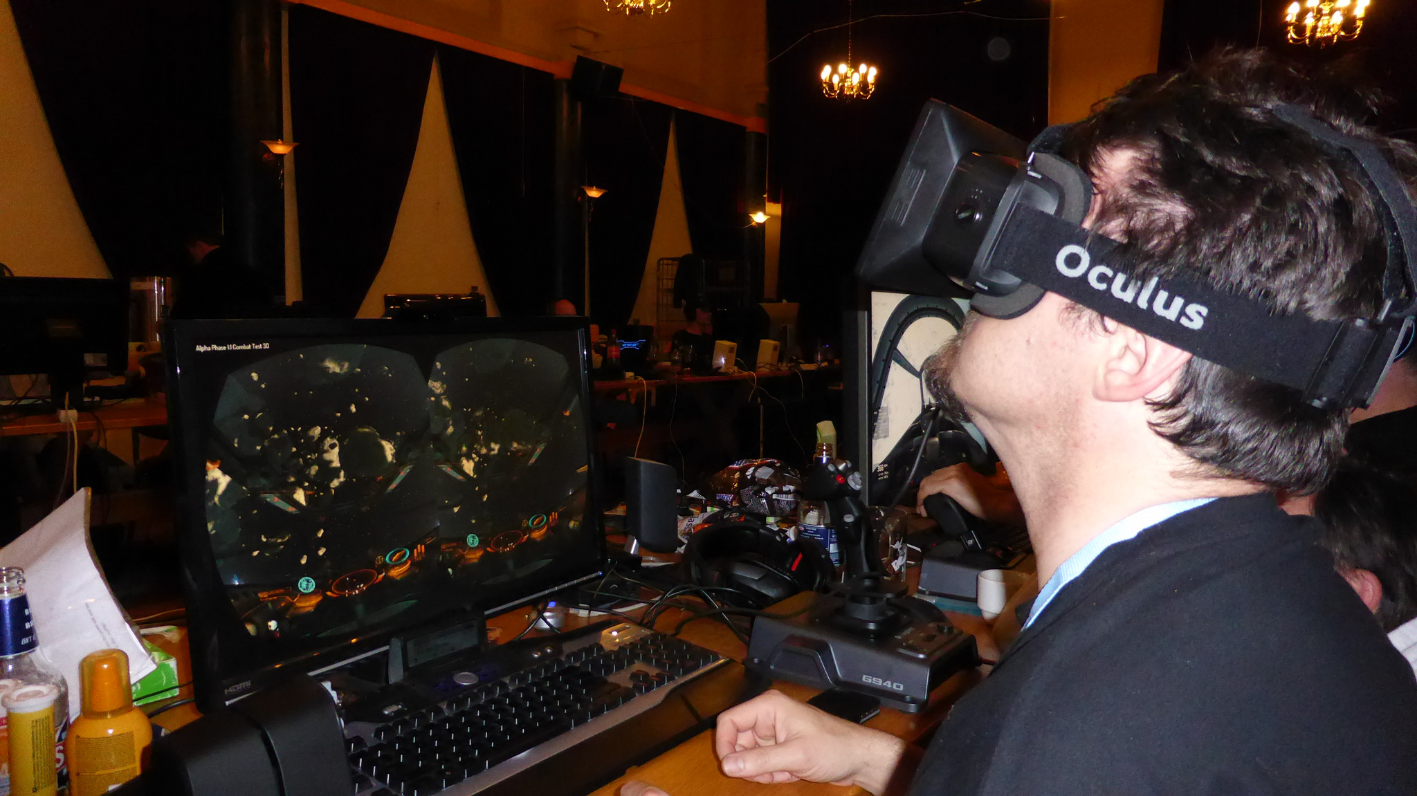 Playing Elite: Dangerous with the Oculus Rift.