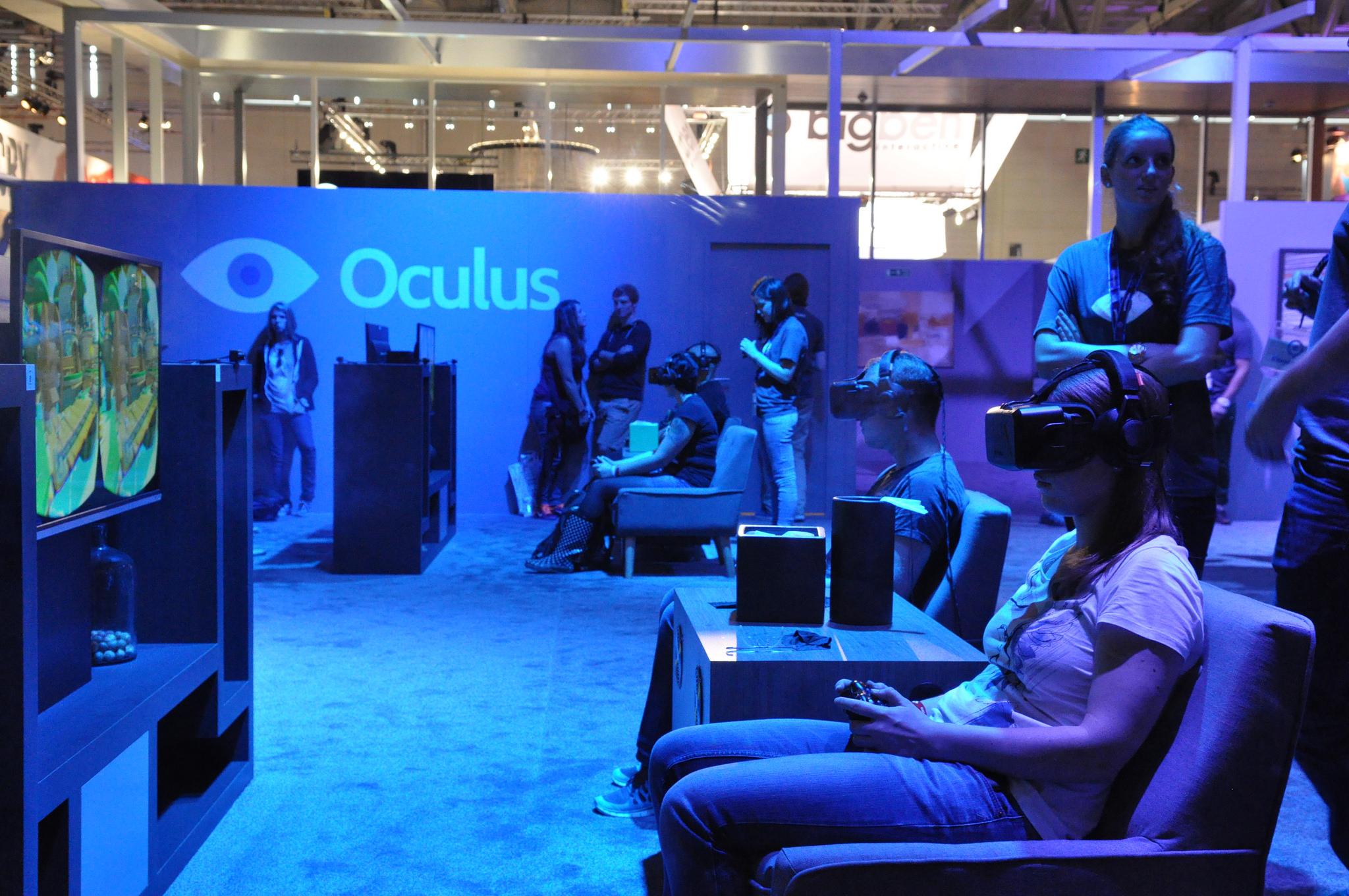 Oculus Rift at Gamescom 2014.