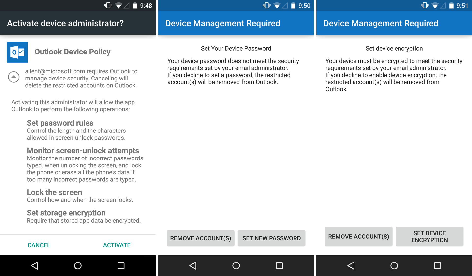 Outlook for Android and iOS gets PIN lock, faster remote wipe, IMAP
