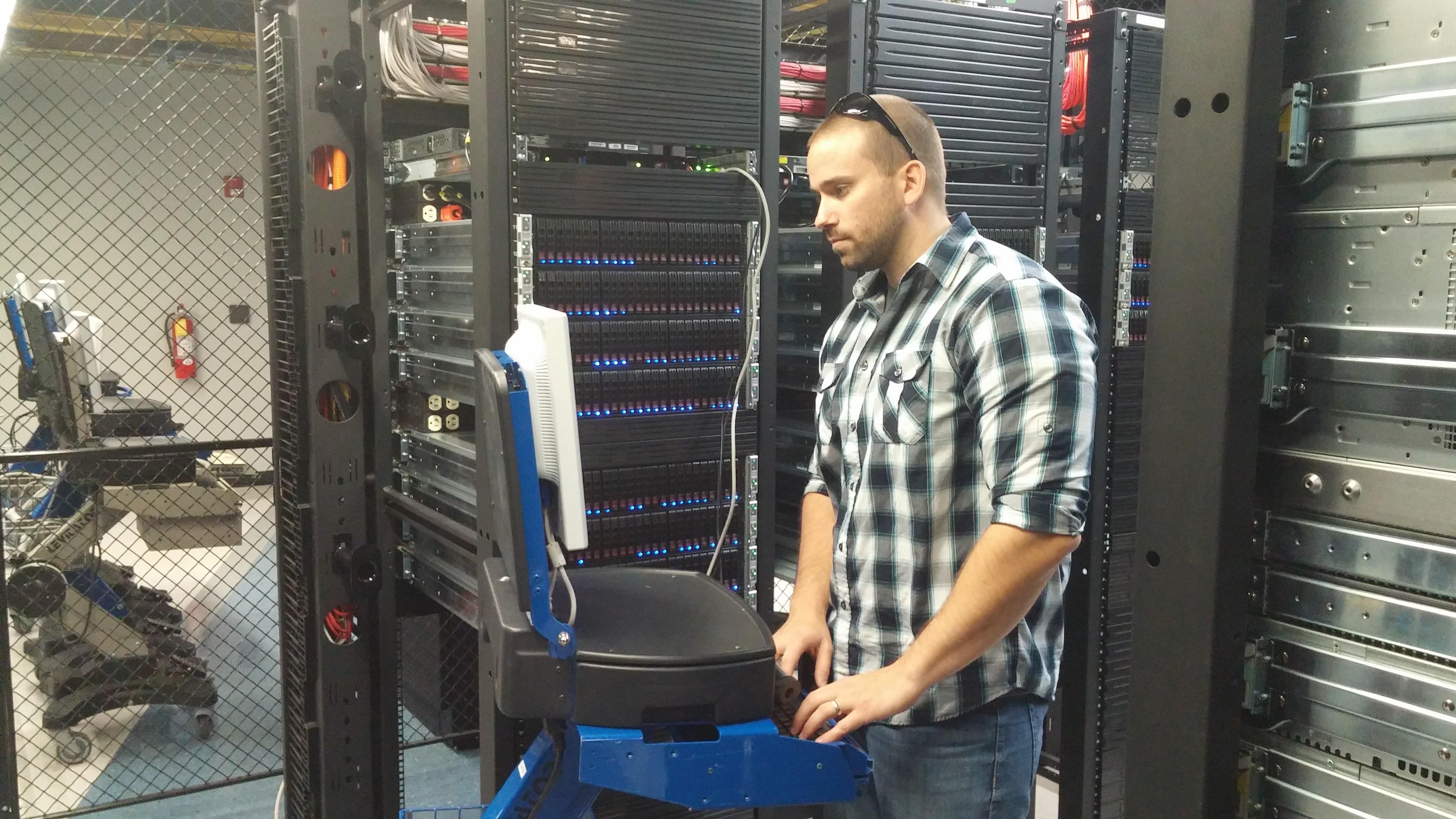 Brett Haines at Atlantic.net's Orlando, Fla., data center.
