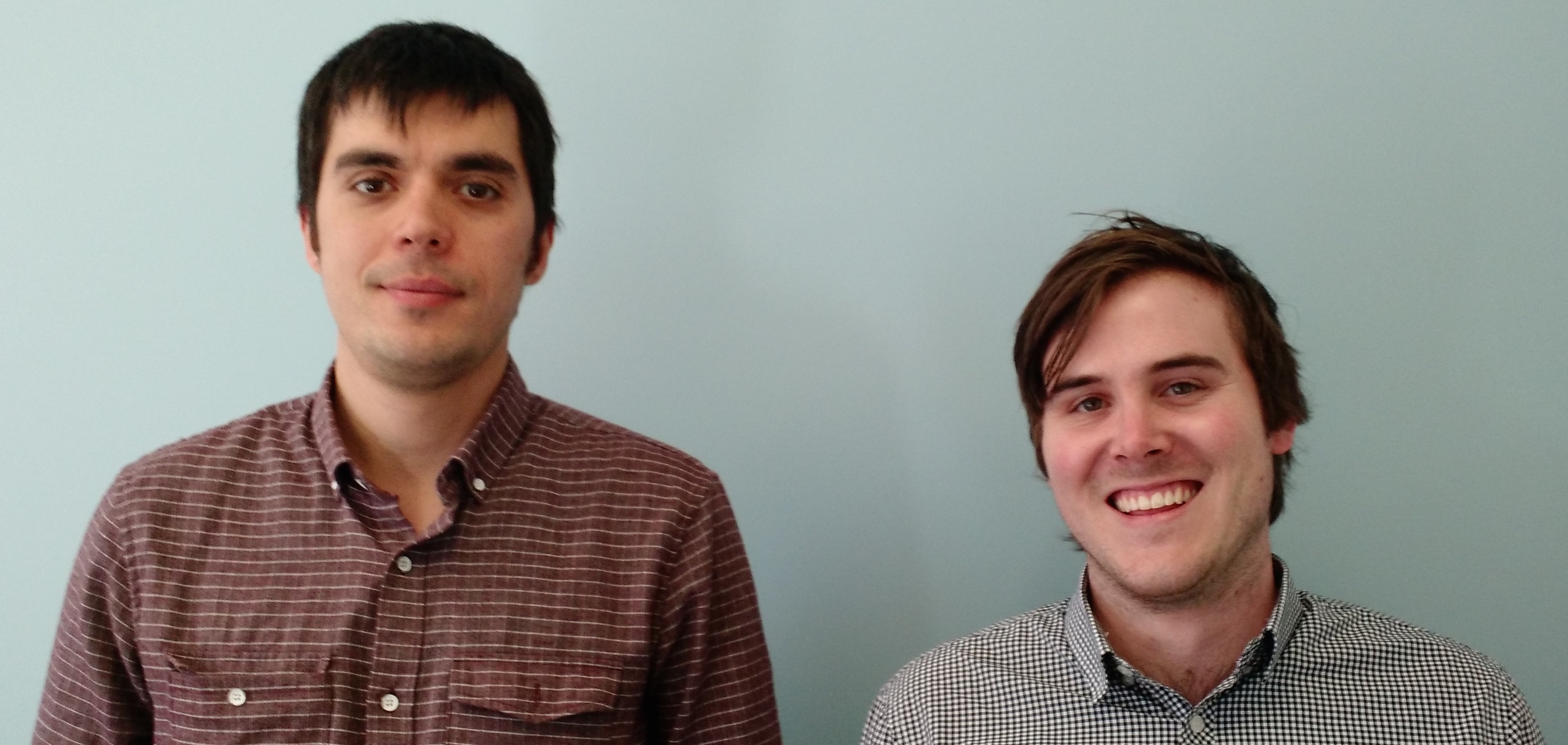 ClusterK chief executive Dmitry Pushkarev, left, and the startup's head of sales, Boyd McGeachie, who previously worked in sales at Amazon Web Services.