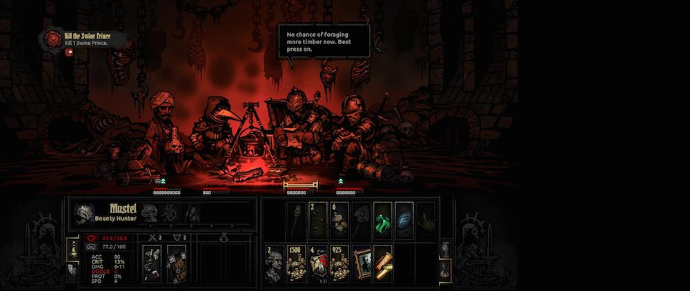 The campsite is key to a long delve into Darkest Dungeon's terrors.
