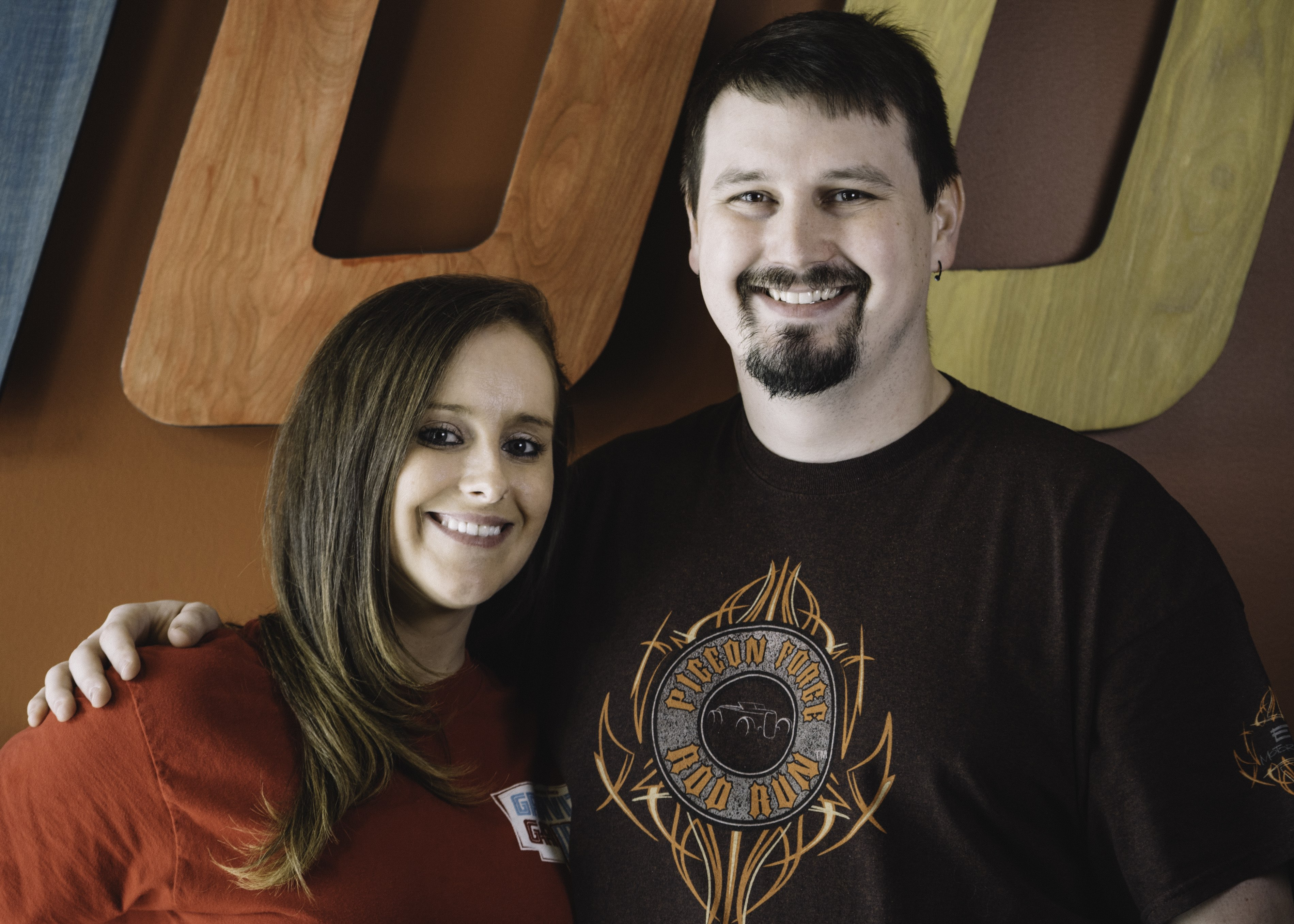 Diana Harmon and Josh Cheek are working on Valentine's Day at Google's Lenoir, N.C., data center.